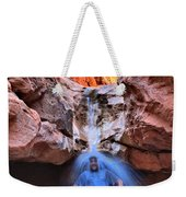 Adam Jewell At Capitol Reef Shower And Laundromat Weekender Tote Bag by Adam Jewell