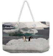 Adelie Penguins On Ice Weekender Tote Bag
