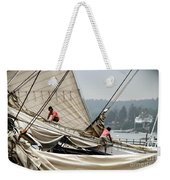 Adjusting The Sails Weekender Tote Bag