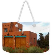 Adobe House And Poppies Weekender Tote Bag