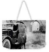 Adolf Hitler Shortly After His Release From Prison With A Mercedes 1924 - 2012 Weekender Tote Bag