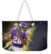 Adrian Peterson Weekender Tote Bag by Don Medina