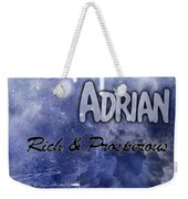 Adrian - Rich And Prosperous Weekender Tote Bag by Christopher Gaston