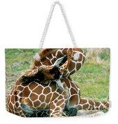 Adult Reticulated Giraffe Weekender Tote Bag