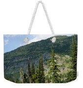 Adult Woman Hiking Through An Alpine Weekender Tote Bag