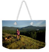 Adult Woman Trail Running Weekender Tote Bag