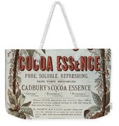 Advertisement For Cadburs Cocoa Essence From The Graphic Weekender Tote Bag