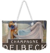 Advertisement For Champagne Delbeck Weekender Tote Bag by Louis Chalon