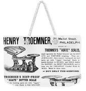Advertisement Scales Weekender Tote Bag
