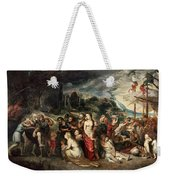 Aeneas And His Family Departing From Troy Weekender Tote Bag