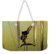 Aerial Acrobatic Artistry2  Weekender Tote Bag by Anne Mott