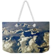 Aerial Ice Fields Weekender Tote Bag