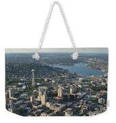 Aerial Image Of The Seattle Skyline  Weekender Tote Bag