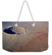 Aerial Of Meteor Crater Weekender Tote Bag