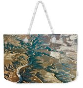 Aerial Of Rocky Mountains Over Montana State Weekender Tote Bag