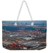 Aerial Over Newark And New Yourk Weekender Tote Bag