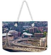 Aerial Shot Of Boston Weekender Tote Bag