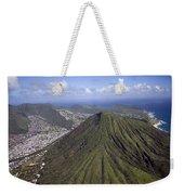 Aerial View Honolulu Hawaii Weekender Tote Bag