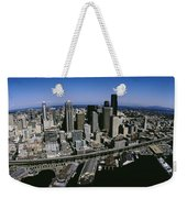 Aerial View Of A City, Seattle Weekender Tote Bag