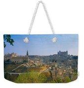 Aerial View Of A City, Toledo, Spain Weekender Tote Bag