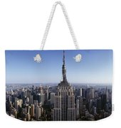Aerial View Of A Cityscape, Empire Weekender Tote Bag