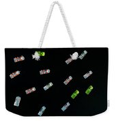 Aerial View Of A Dozen Colorful Pedal Weekender Tote Bag
