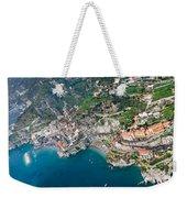 Aerial View Of A Town, Atrani, Amalfi Weekender Tote Bag