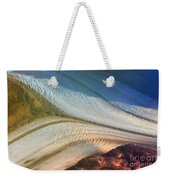 Aerial  View Of An Antarctica Glacier Flow Weekender Tote Bag