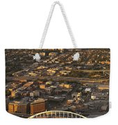Aerial View Of Bellevue Skyline And Century Link  Weekender Tote Bag