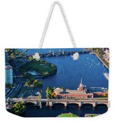 Aerial View Of Bridges Crossing Charles Weekender Tote Bag