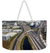 Aerial View Of City Of Tampa Weekender Tote Bag