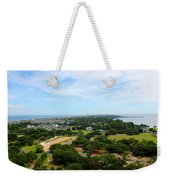 Aerial View Of Corolla North Carolina Outer Banks Obx Weekender Tote Bag by Design Turnpike