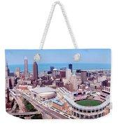 Aerial View Of Jacobs Field, Cleveland Weekender Tote Bag