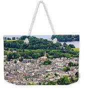 Aerial View Of Keswick In The Lake District Cumbria Weekender Tote Bag
