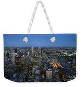Aerial View Of Melbourne At Night Weekender Tote Bag