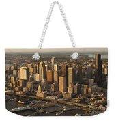Aerial View Of Seattle Skyline Along Waterfront Weekender Tote Bag