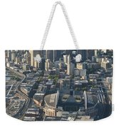 Aerial View Of Seattle Skyline With The Pro Sports Stadiums Weekender Tote Bag