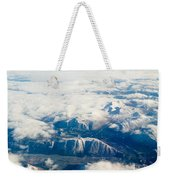 Aerial View Of Snowcapped Mountains In Bc Canada Weekender Tote Bag