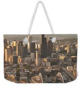 Aerial View Of The Seattle Skyline With Stadiums Weekender Tote Bag