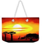 Africa Sunset Weekender Tote Bag