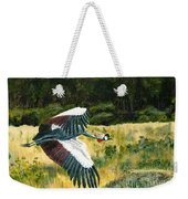 African Crowned Crane Painting Weekender Tote Bag