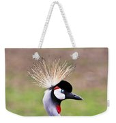 African Crowned Crane Portrait Weekender Tote Bag