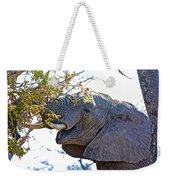 African Elephant Browsing In Kruger National Park-south Africa Weekender Tote Bag