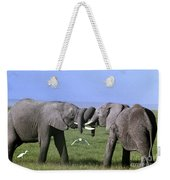 African Elephant Greeting Endangered Species Tanzania Weekender Tote Bag
