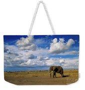 African Elephant Walking Masai Mara Weekender Tote Bag