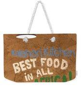 African Food Weekender Tote Bag