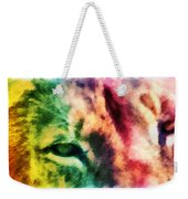 African Lion Eyes 2 Weekender Tote Bag