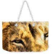 African Lion Eyes Weekender Tote Bag