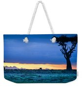 African Panoramic Sunset Landscape Weekender Tote Bag