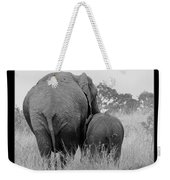 African Safari Elephants 3 Weekender Tote Bag